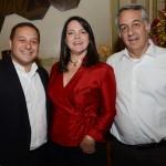 Luiz Araujo Jr. e Paula Mena Barreto, da Disney, com Sylvio Ferraz, da CVC Corp
