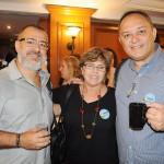 Márcio Pereira, da MDR Turismo, Denise Amitay, da ACT, e Wallace Póvoas, da W Personal Travel