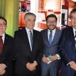 Manoel Linhares, da ABIH, Alberto Alves, do MTur, Gilson Lira, da Emnbratur, e Ricardo Milanez, secretário de Turismo de João Pessoa