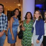 Manoel Neto, Maria de Lourdes e Marlene Fonseca, da prefeitura de Salvador, com Caissa Moura e Luciana Paraguassu, do Conect Smart Hotel
