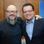 Marcio Américo Oliveira, da Agaxtur, e Alberto Bacarin, da Trade Tours