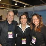 Marcos Barreto e Fernanda Heringer, do turismo de Belo Horizonte, com Gisele Lima, da Promo