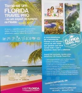 Material que o Visit Florida começou a distribuir no Brasil