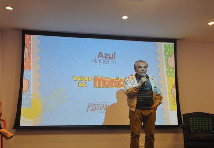 Maurício de Sousa participou do evento e celebrou a novidade