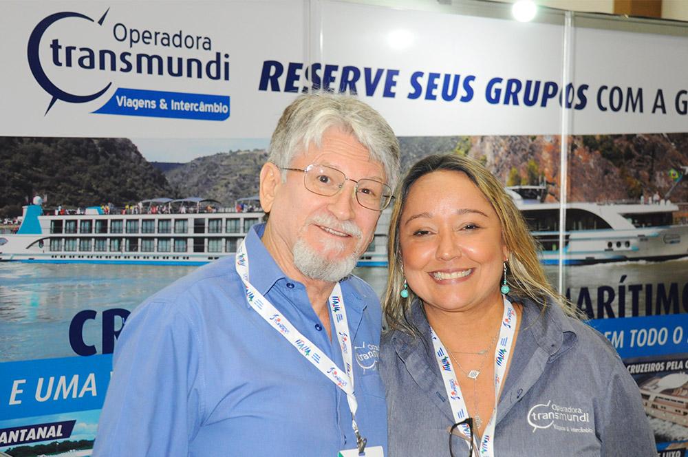 Miguel Andrade e Márcia Pereira, da Transmundi