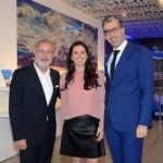 Otávio Neto, do Grupo Radar, Júlia de Medeiros, gerente de Marketing do grupo no Brasil e Seth Van Straten, diretor comercial da Air France-KLM