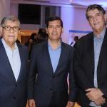 Paulo Gaudenzi, do Salvador Destination, Claudio Tinoco, secretário de Turismo de Salvador, e Luiz Augusto, presidente da Sindetur BA