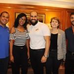 Paulo Vitor, da Europlus, Caroline Silva, da Orn, Rodrigo Barcellos e Aline Freitas, da RCA, e Bruno Lamori, do HotelDO