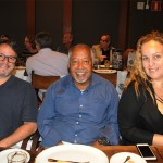 Ramon Corrêa, da RCS Trip, Osmar Souza, da Sealink, e Paula Barreto, da Factour Viagens