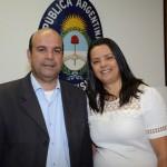 Raul Monteiro, da Transmundi, e Elenilde Rodrigues, da Nova Operadora