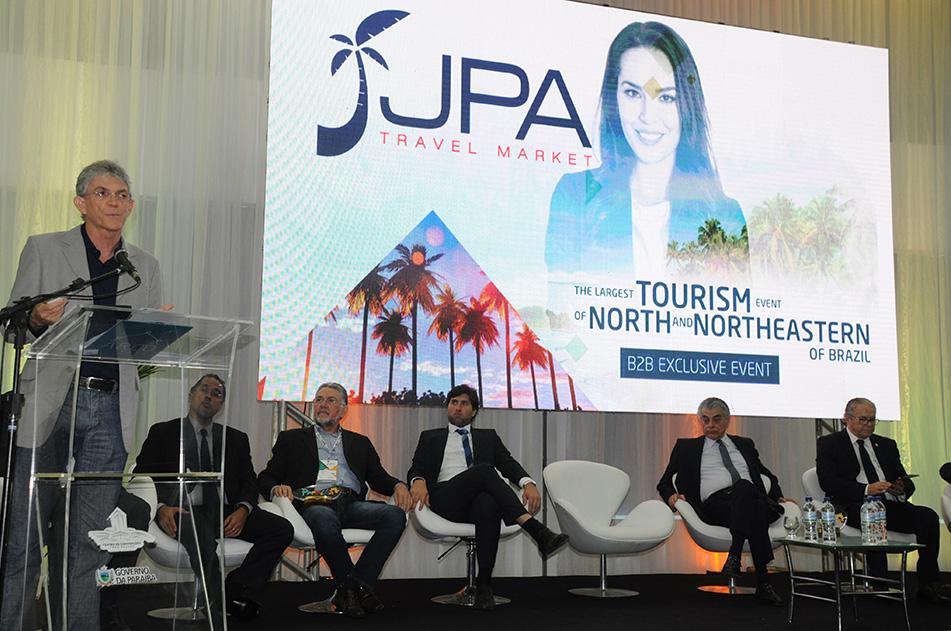 Ricardo Coutinho, governador da PB, na cerimônia de abertura do Festival JPA