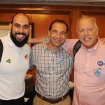 Rodrigo Barcellos, da RCA, Marcelo Siciliano, da Point Travel, e Roberto Campeas, da Magic Stars