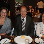 Romana Pagnanelli, da Personal Tours, Eduardo de Araújo, da Ietur, e Lourdes Prado, da Gente di Mare
