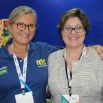 Rosa Masgrau, do M&E, e Nadia Kardouss, da Cabo Verde Airlines