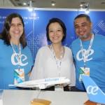 Sheila Landulfo, Claudia Shishido e Domingos Santana, da Air Europa