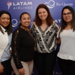 Simone Colombo, Jennifer Fernandes, Carla Oliveira, do Grupo Rio Quente, e Marcela Pires, da e-htl