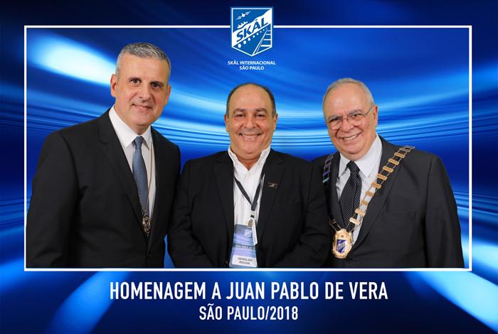 Juan Pablo, Geraldo Rocha (Presidente da Abav Nacional) e Aristides Cury (Presidente do Skal SP)