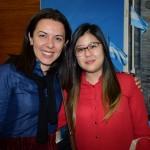 Sonaira Zanella, da Aerolíneas Argentinas, e Camilla Kunii, da Flot Viagens