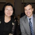 Yan Yuqing, cônsul geral da China no Recife, e John Barrett, cônsul geral dos EUA em Recife