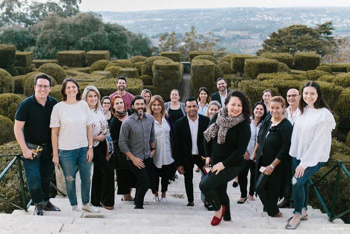 Cinco dias de imersão e integração entre profissionais de turismo e de casamentos em Portugal.
