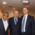 Abhi Shah, Antônio Américo e Jason Ward, da Azul