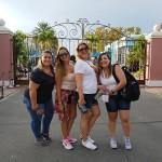 Alessandra Custódio e Luana Cristina, da Latam Travel, com Gizéllia Ramos, da Sunline, e Ana Paula, da FlytourMMT