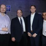 Alex Malfitani, da Azul, Alex Savic, da United, Jason Ward e Abhi Shah, da Azul