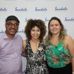 Alexandre Moreira, da Explore Travel, Raquel Queiroz, do Sandals, e Bruna Basile, da 55 destinos