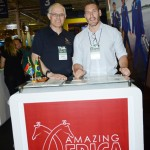 Altamiro Medici, da South African Airways, e Mark de Villiers, da Amazing Africa