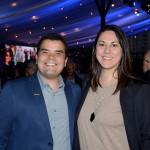 Andre Almeida, do Visit Orlando, e Lizandra Pajak, da Aviareps