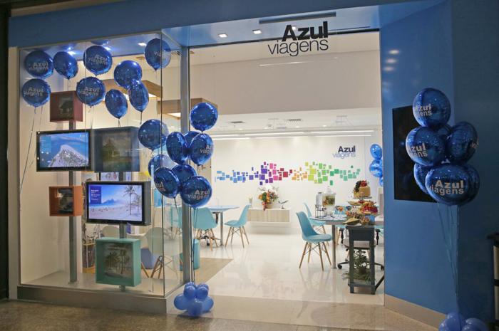 Azul Viagens remodelou layout das lojas físicas da rede (Foto: Divulgação)