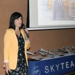 Bruna Freitas, da Aeromexico, apresentando campanha Skyteam Conectados