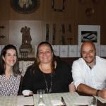 Camila Souza, da Alitalia, Mariana Lutke, da ABB, e Vinicius Luz, da Unilever
