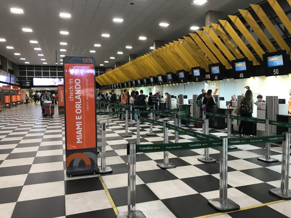 Check in do voo inaugural pra Miami no aeroporto de Congonhas