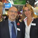 Claude Blanc, novo diretor de Portfólio da Reed Travel Exhibitions, com Luciane Leite, diretora da WTM-LA