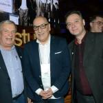 Constantino Orsolin, prefeito de Canela, Victor Hugo, secretário de Turismo do RS, e Ângelo Sanches, secretário de turismo de Canela