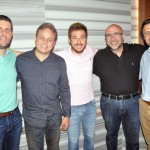 Daniel Castanho, da Delta, Rogério Guerra, da Gol, Danilo Barniza, da Delta, Ubiratan Motta, da Flytour, e Randall Aguero, da Gol
