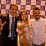 Diretores do Festuris, Eduardo Zorzanello, Marta Rossi e Marcus Vinícius Rossi na edição de 2017