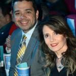 Edmilson Romão, da Abav-SP, e Rúbia Andrade