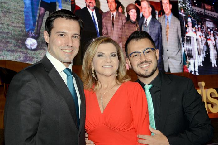 Eduardo Zorzanello, Marta e Marcus Rossi, diretores do Festuris