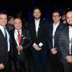 Eduardo Zorzanello, do Festuris, com Leomar Marques, Alberto Wiesser, Leandro Cassio, e Thiago Souza, da Avianca