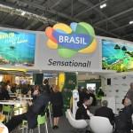 Estande do Brasil com movimentação intensa neste segundo dia