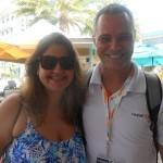Fernanda Ritchie, da FRT, com Marcio Nogueira, do HotelDo