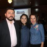 Fernando Fernandez, da Aeromexico, com Abigail Velasquez e Sonaira Zanella, da Aerolíneas Argentinas