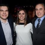 Fernando Vaccari, da GJP, Paula Rorato e Fernando B. Del Cistia, da CVC Corp