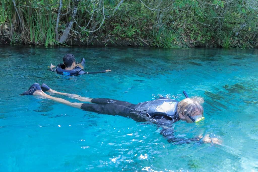 Flutuação no Rio Sucuri. Foto Valter Patriol - H2O Ecoturismo e Eventos