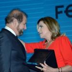 Guilherme Paulus, da GJP, e Marta Rossi, do Festuris