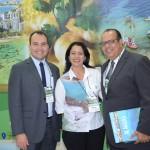 Jair Galvão, secretário de Turismo de Maceió, Cláudia Pessôa, secretária de Turismo Barra de São Miguel, e Júlio Oliveira, secretário de Turismo de Itacaré