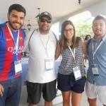Jeffersom Carvalho, da FlytourMMT, Leandro Roberto, da Visual, Camila Correa, da Magic Blue, e Jonas da Silva, da Azul
