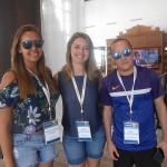 Luana Cristina e Débora Almeida, da Latam Travel, com Fabio da Rocha, do Nice Via Apia